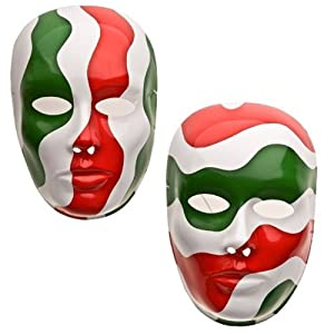 Máscara facial medio adulto Tricolor Italia Varios Diseños , Modelos/colores Surtidos, 1 Unidad