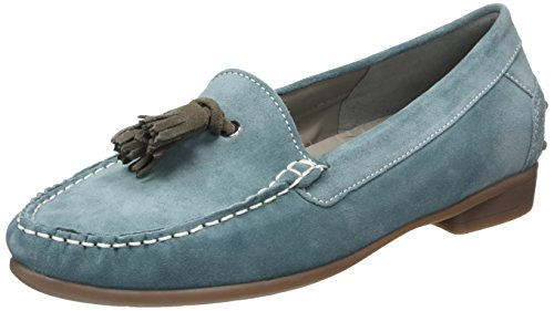 Ara Boston, Mocassini Donna Blu (Blau (air,alpaca 09))