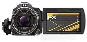 Sony HDR-PJ650VE Displayschutzfolie - 3 x atFoliX FX-Antireflex blendfreie Folie Schutzfolie