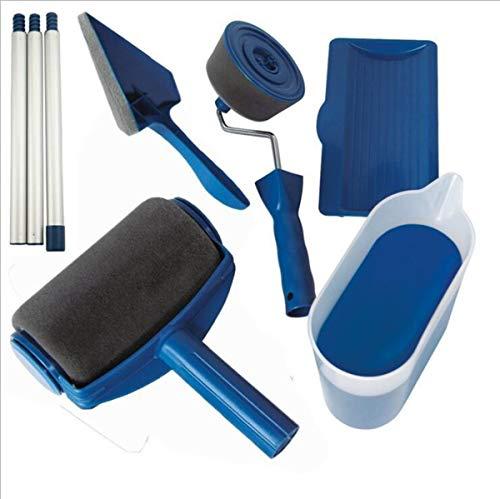 NYJG Lack Bürste Schwamm Roller Brush Nahtlose Home-Griff-Set Multifunktionsgerät Pintar facil 6-teilige Kombination -