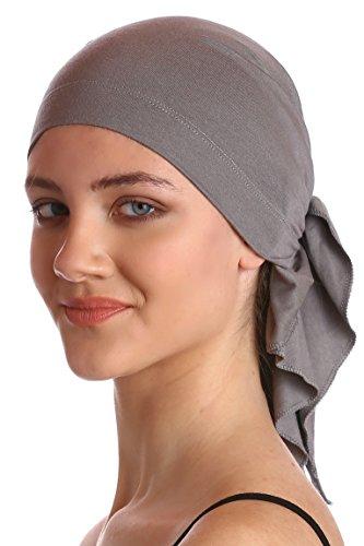unisex-baumwolle-bandana-fur-haarverlust-grau