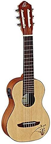 Ortega Guitars RGL5E Guitarlele Series 1/8 Size Nylon 6-String Guitar, Spruce Top, Mahogany Body with