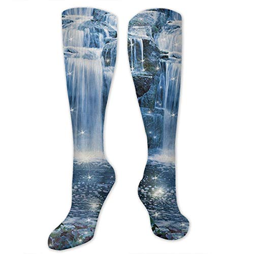Womens Kostüm Night Nurse - Gped Kniestrümpfe,Socken Magic Fairy Fantastic Waterfalls at Night Compression Socks,Knee High Socks for Women Men - Best Medical,Sports,Running, Nurses,Maternity,Pregnancy,Travel & Flight Socks
