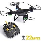 SGILE Drone Télécommandé avec 22Min Vie de la Batterie, Mode sans Tête, RC Quadricoptère avec 360° Flips et LED, Un Bouton pour Démarrer / Atterrir - Jouet Cadeau pour Enfants et Débutants