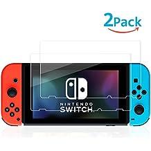 2-Unidades Protector de Cristal Templado para Nintendo Switch ,Protector de Pantalla Vidrio Templado,Alta Definicion,9H Dureza,Sin Burbujas