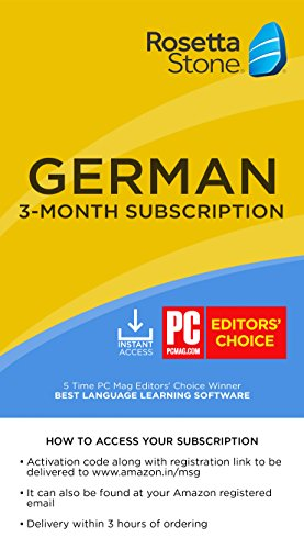 Rosetta Stone Learn German for 3 Months on iOS, Android, PC, and Mac - Mobile & Online Access (Email Delivery in 2 Hours - No CD) (Activation Key Card)