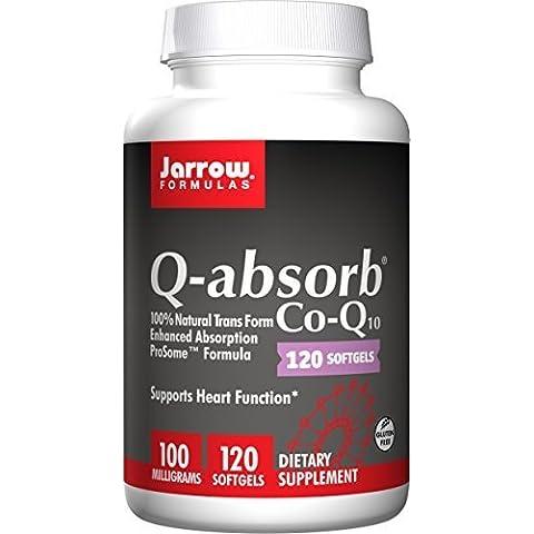 Jarrow Q-absorb (Co-Q10) (100mg, 120 Softgels) by Jarrow Formulas