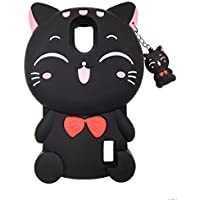 Huawei Y625 / Y635 Funda, BENKER Imágenes de Dibujos Animados en 3D de Alta Calidad de Silicona Carcasa de Telefono - Gato Negro