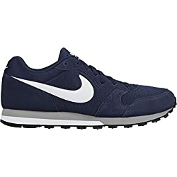 Nike NIKE MD RUNNER 2 Zapatillas de running Hombre, Azul (Midnight Navy/White-Wolf Grey), 42 EU
