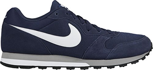 Nike Md Runner 2, Zapatillas de Running Hombre, Azul (Midnight Navy/White-Wolf Grey), 43
