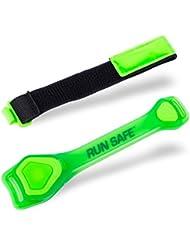 Run Safe LED Sport Armband Oberarmband, Knöchelband - Grün, Länge 33cm