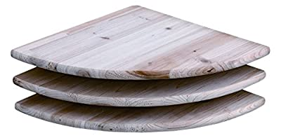 Core Products Corner Shelf Kit, Pack of 3, Sanded Timber