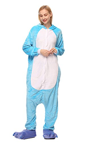 tliche Anzug Flanell Pyjamas Trickfilm Jumpsuit Tier Cartoon Fasching Halloween Kostüm Sleepsuit Party Cosplay Pyjama Schlafanzug Elefant Small ()