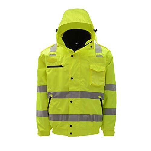 YONG FEI Sicherheitsweste Reflektierende bekleidungsreflektierende Baumwollschicht Traffic Road Highway Road Baumwolljacke Jacke Herrenjacke Sicherheitsjacke Overalls Boutique (größe : 2XL) -