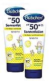 Bübchen Sensitiv Sonnenlotion LSF 50+, wasserfest, Sonnenschutz für empfindliche Babyhaut, sehr hoher UV-Schutz für Kinder und Babys, Menge: 2 x 100 ml