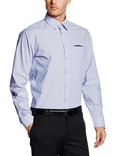Seidensticker -  Camicia classiche  - A righe - Classico  - Uomo Blue - Blue