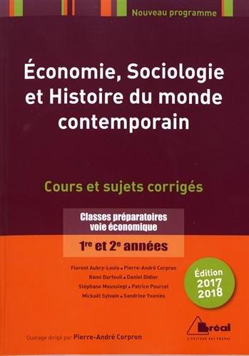 Economie, sociologie, histoire du monde contemporain 2017-2018