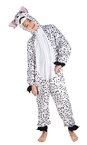 Kostüm Hunde Kinder - Karneval-Klamotten Dalmatiner Kostüm Kinder aus Plüsch Dalmatiner-Overall Karneval Tier-Kostüm Hund Kinder-Kostüm Größe 140
