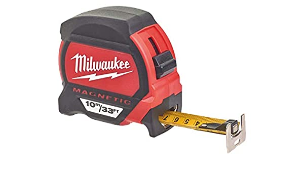Red//Black Milwaukee 48227308 Premium Mag Tape Measure HP8Mg//27