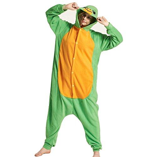 HXQ Unisex Erwachsener Pyjamas Schildkröten Cosplay Tier Kostüm , M: (height (Schildkröten Erwachsene Kostüme)