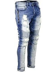 Jeans Biker HL Yate Bleu