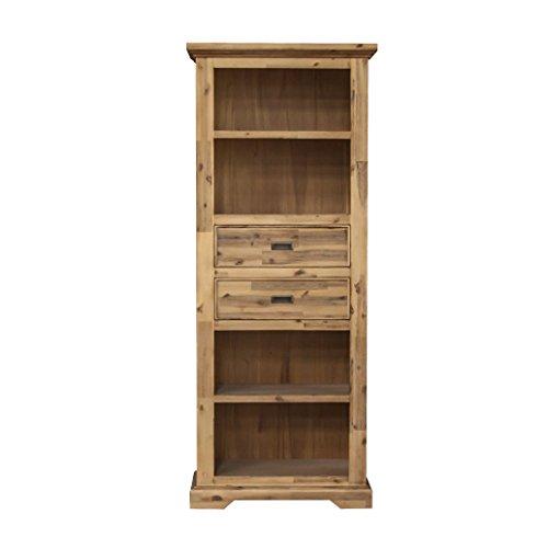 ETIENNE Regal mit Schubkästen; Holz Akazie teilmassiv, gebürstet und lackiert, B 75 cm x H 185 cm x T 40 cm