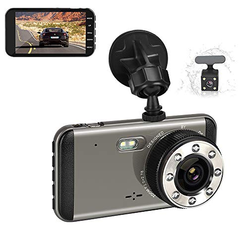 LIDAUTO Autorecorder HD 1080P Mini-DVR-Kamera Auto 4 Zoll Digital Video Dual Lens Registratory Camcorder -