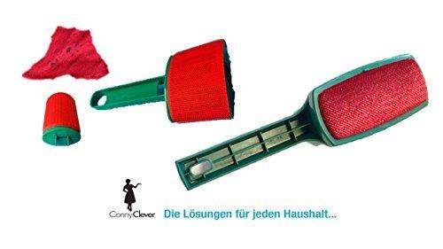 Fusselbürste, beidseitig + Pulloverbürste von Conny Clever® + Fusselbürste Flusenbürste Flusenentferner Kleiderbürste für Kleidung