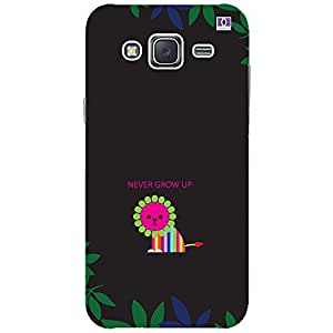 Never Grow Up - Mobile Back Case Cover For Samsung Galaxy J3 (2016)