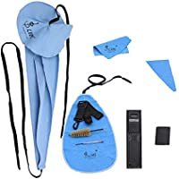 LADE 10-in-1 Cleaning Saxophone Care Kit Belt Thumb Rest Cushion Case Reed Mouthpiece Brush Mini Screwdriver Cleaning Clot