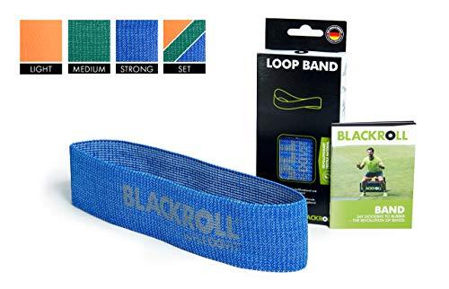 BLACKROLL  Fitnessband Loop Band Trainingsband Gymnastikband Sportband mit starker Dehnbarkeit, blau, One Size, AMLBBE