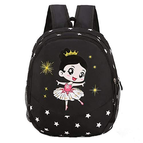 Tanz-Tasche für Kinder Latein Ballett-Umhängetasche Kleinkind-Mädchen-Tanz-Ballett Rucksack 5-Farben für Mädchen von 3 bis 9 Jahre Tanzen
