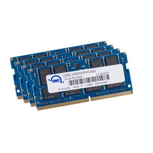64GB OWC 2400MHz PC4-19200 DDR4 CL17 SO-DIMM Memory Kit (4 x 16GB)