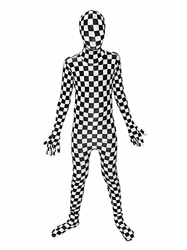 Karo Kinder Morphsuit schwarz weiss L