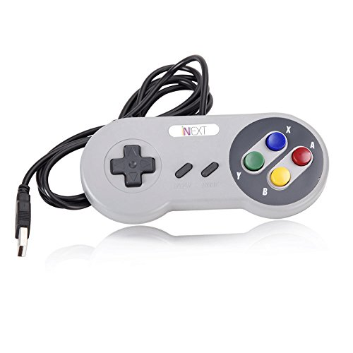 SNES PC Gamepad,iNNEXT SNES USB SFC Supper Game-Controller Joypad Gamestick für Windows PC Mac