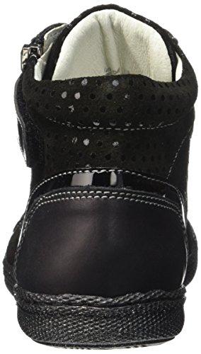 Primigi Mel E, Cheville Chaussures Lacées Fille Noir (Nero/Nero)