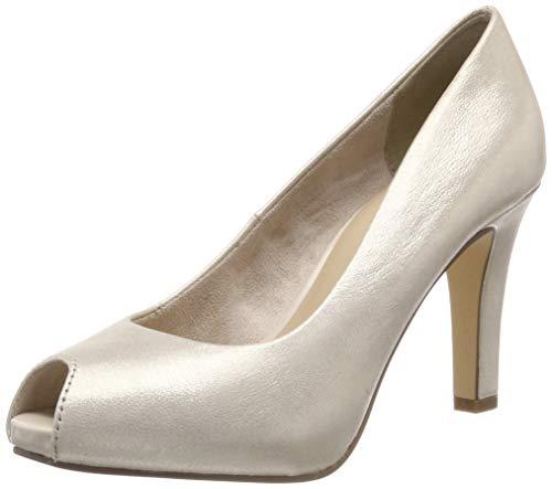 Tamaris Damen 1-1-29300-22 Peeptoe Pumps, Gold (LIGHT GOLD 909), 36 EU Gold Peep Toe Schuhe