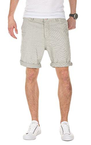 Yazubi Herren Chino Shorts Aiden gemustert Grau (Grisaille 183912)