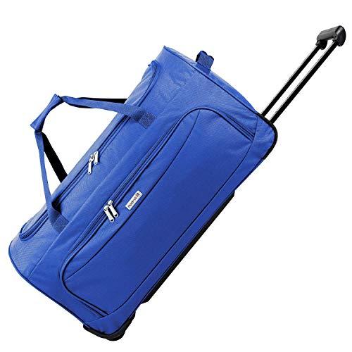 noorsk XL Bolsa de Viaje | Travel Trolley Bag | Equipaje con Ruedas de Deporte - XL - Azul