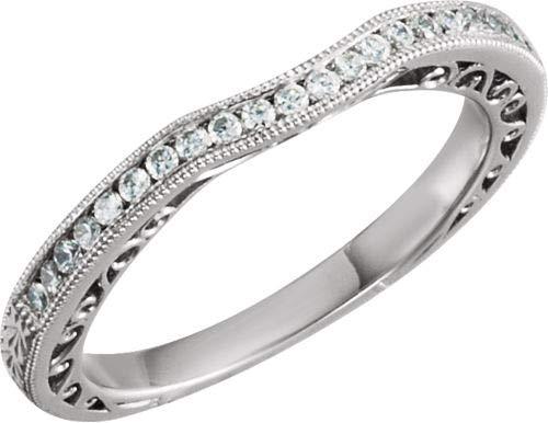 Ring Weißgold 14 Karat Diamantgravur 1/8 Karat
