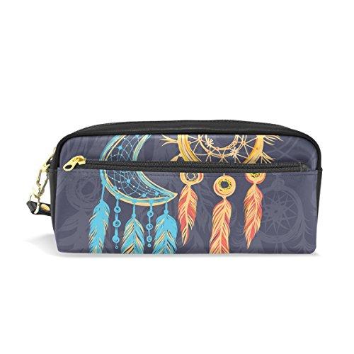 coosun Atrapasueños Ethnic Tribal elementos portátil piel sintética estuche escolar pluma bolsas papelería funda gran capacidad de maquillaje bolsa