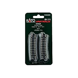 Kato 7078102 Unitrack Gleis - Pista Nacido R282 15 ° - 4 Piezas en Blister