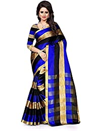 PRAMUKH STORE Sarees Kitket Blue Sarees(Latest Design Sarees New Collection 2018 Sarees Below 1000 Rupees 500...