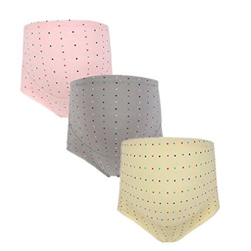 Annein Schwangerschaft Slip Unterwäsche Baumwolle Umstandsslip Hohe Taillen Unterhose Bauch Unterstützung Einstellbare Höschen Schlüpfer Panty 3er Pack (2, XL)