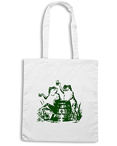 T-Shirtshock - Borsa Shopping TIR0044 drunk frogs st patricks day white tshirt Bianco