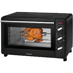 Bomann MBG 6023 CB Four Multifonction 30 l de cuisson avec chaleur tournante et pierre à pizza Noir