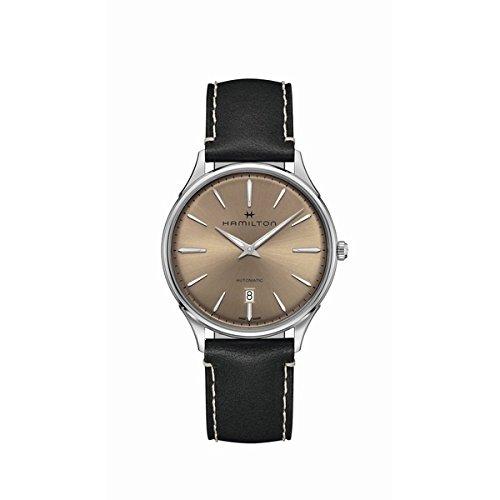Hamilton Jazzmaster H38525721 - Reloj automático para hombre, esfera marrón