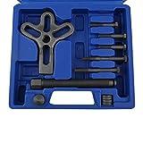 Bomcomi Kit Volante 13pcs Car Compressor Remover Set Blocco del Veicolo estrattore Rimozione della Piastra Repair Tool (Colore Casuale)