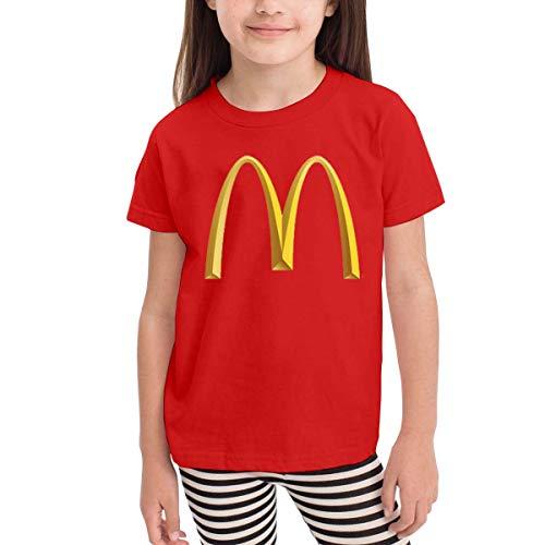 Kinder Jungen Mädchen Shirts McDonalds T Shirt Kurzarm T-Shirt Für Tollder Jungen Mädchen Baumwolle Sommer Kleidung Rot 5/6 T Cotton Duck Vest