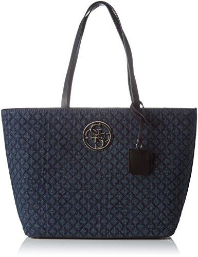Guess-Damen-G-Lux-Schultertasche-Blau-Denim-19-x-33-x-50-cm